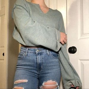 Urban Outfitters muted green sweater